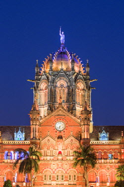 IN07125 India, Maharashtra, Mumbai, Chhatrapati Shivaji Terminus a historic railway station and a UNESCO World Heritage Sit