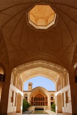 HMS0312752 Iran, Isfahan Province, Kashan, the Khan-e-Ameriha, residence of the governor of Kashan at Gadjar time, Muqarnas of Northern Pavilion