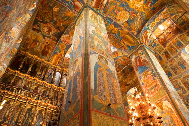 HMS0318436 Russia, Golden Ring, Yaroslavl, old town listed as World Heritage by UNESCO, murals and oconostasis in the Church of Prophet Elijah
