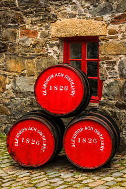 SCO34299AW Glendronach distillery is a Scottish whisky distillery located near Forgue, by Huntly, Aberdeenshire, in the Highland whisky district of Scotland.