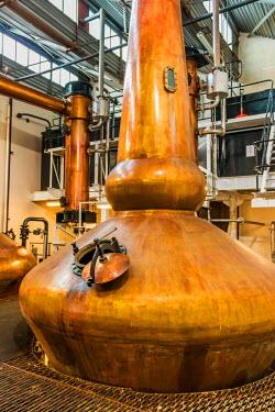 SCO34302AW The Glenglassaugh whisky distillery in Portsoy, Scotland.