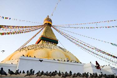 HMS0310377 Nepal, Kathmandu Valley listed as World Heritage by UNESCO, Bagmati Zone, Buddhist stupa of Bodnath