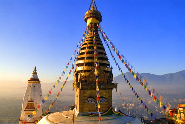 HMS0208229 Nepal, Kathmandu Valley listed as World Heritage by UNESCO, Kathmandu, Swoyambhunath Stupa, Buddhist place of worship