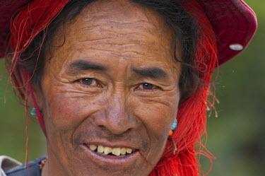HMS0812971 Nepal, Karnali Zone, Dolpo Region, tibetan caravan leader