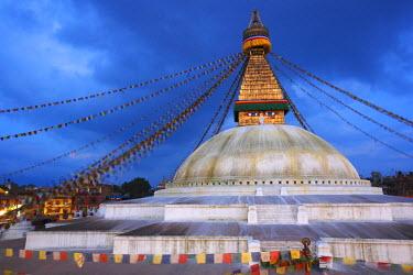 HMS1283449 Nepal, Kathmandu Valley, listed as World Heritage by UNESCO, Kathmandu, Boudhanath Stupa