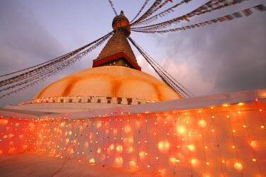 HMS1283466 Nepal, Kathmandu Valley, listed as World Heritage by UNESCO, Kathmandu, Boudhanath Stupa
