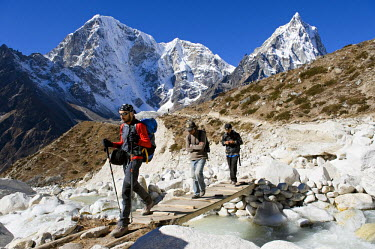 Nepal, Sagarmatha National Park, Solu Khumbu District, Everest area, on the way between Pheriche and Dughla (4620m)