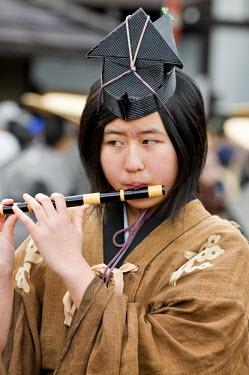 HMS0331121 Japan, Honshu Island, Chubu Region, Takayama, the festival or Sanno Matsuri, parade of decorated floats