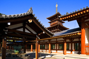 HMS0366877 Japan, Honshu Island, Kinki Region, city of Nara, Historic Monuments of Ancient Nara listed as World Heritage by UNESCO, Yakushi-ji Temple