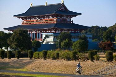 HMS0366971 Japan, Honshu Island, Kinki Region, city of Nara, site of the Imperial Palace of Heijo, courtroom (Daigoku den)