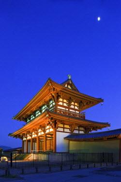 HMS0366989 Japan, Honshu Island, Kinki Region, city of Nara, site of the Imperial Palace of Heijo, the Suzaku Gate