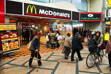HMS0366995 Japan, Honshu Island, Kinki Region, city of Nara, shopping mall between the Sanjodori Street and the Nobori Oji Avenue, Mc Donald s