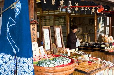 HMS0367000 Japan, Honshu Island, Kinki Region, city of Nara, city center, the Sanjodori Street, stand