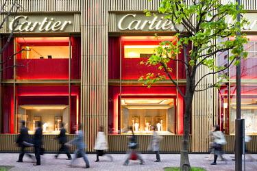 HMS0464237 Japan, Honshu Island, Tokyo, Ginza, French luxury store Cartier