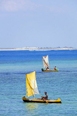 MAD0757 Africa, southern Madagascar, Anakao, small sail boat