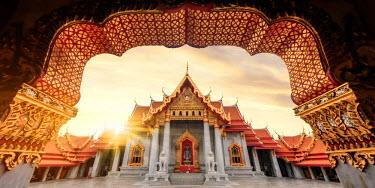TH01421 Thailand, Bangkok, Wat Benchamabophit (Marble Temple)