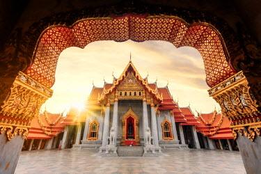 TH01422 Thailand, Bangkok, Wat Benchamabophit (Marble Temple)