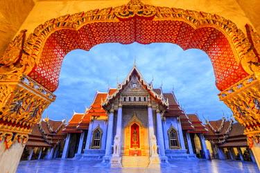 TH01423 Thailand, Bangkok, Wat Benchamabophit (Marble Temple)