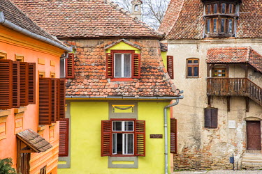 ROM1238AW Medieval architecture of Sighisoara, Transylvania, Romania
