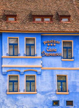 ROM1240AW Colourful houses of Sighisoara, Transylvania, Romania