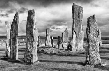 SCO34555AW Callanish standing stones, Lewis, Hebrides, Scotland