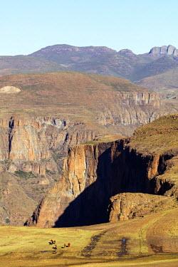 LES1181 Africa, Lesotho, canyon at Maletsunyane Falls