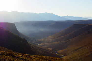 LES1192 Africa, Lesotho, highland scenery