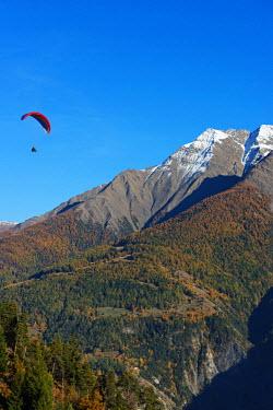 SWI7838 Europe, Switzerland, Valais, Swiss Alps, village of Termen near Brig