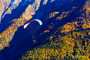 SWI7839 Europe, Switzerland, Valais, Swiss Alps, village of Termen near Brig