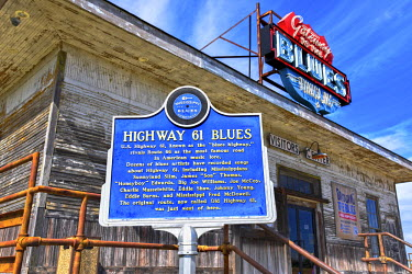 US36078 Tunica, Mississippi, Gateway To The Blues Visitors Center And Museum, Rustic Train Depot, Highway 61
