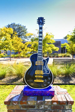 US36099 Indianola, Mississippi, B.B. King Museum, Replica Of Lucille, King's Gibson Guitar