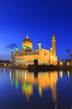 BI01011 Kingdom of Brunei, Bandar Seri Begawan, Omar Ali Saifuddien Mosque