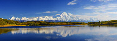 HMS1915877 United States, Alaska, Denali National Park, Mount McKinley, Mount McKinley, Denali ( 6168m) from Wonder lake