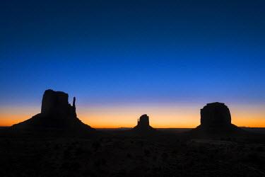 HMS2191552 United States, Arizona, Monument Valley Navajo Tribal Park, The Mittens Rocks