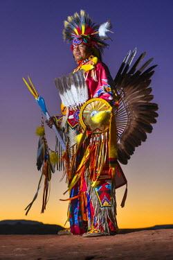 HMS2191729 United States, Arizona, Monument Valley Navajo Tribal Park, Navajo Anderson Chee
