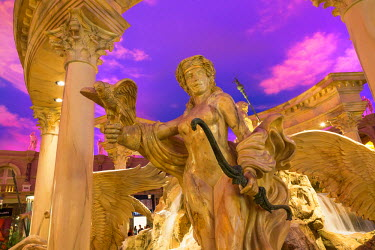 HMS1899487 United States, Nevada, Las Vegas, Fountain in Forum Shopping Mall at Caesars Palace Hotel and Casino