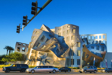 HMS2191749 United States, Nevada, Las Vegas, Cleveland Clinic Lou Ruvo Center for Brain Health by architect Frank Gehry