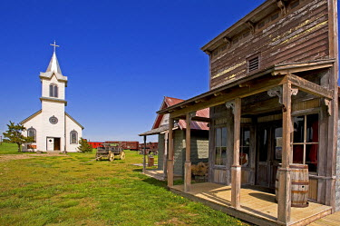 HMS0515527 United States, South Dakota, Murdo, 1880 Town is a museum village on the theme of Farwest or many scenes from the movie Dances with Wolves were filmed