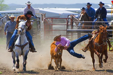 HMS0515540 United States, South Dakota, Martin, rodeo in town