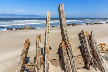 NAM6350AW Africa, Namibia, Skeleton coast. A shipwreck.