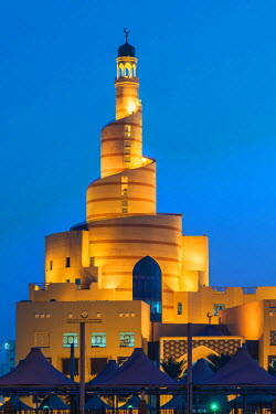 QAT0013AW Bin Zaid Al Mahmoud Islamic Cultural Center (known also as Fanar) with its spiral mosque, Doha, Qatar