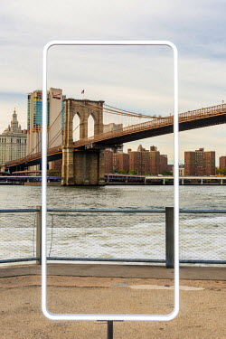 USA12174AW Brooklyn Bridge, New York, USA