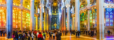SPA7170AW Barcelona, Catalonia, Spain, Southern Europe. Architectural details of Antoni Gaudi's Sagrada Familia.