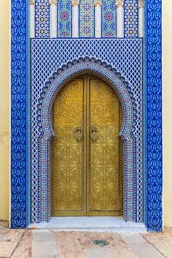 MC02928 Dar el Makhzen, Royal palace gates, Fes, Morocco