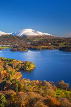 UK08091 UK, England, Cumbria, Lake District, Derwentwater, Blencathra Mountain above Keswick