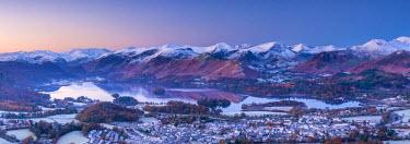 UK08119 UK, England, Cumbria, Lake District, overlooking Keswick and Derwentwater from Latrigg