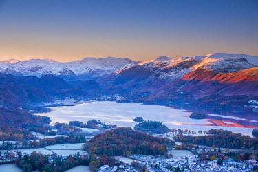 UK08125 UK, England, Cumbria, Lake District, overlooking Keswick, Derwentwater