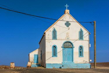 CVE0007AW africa, Cape Verde, Sal. Lady compassion Chapel of Pedra Lume.