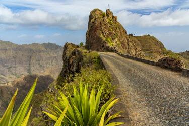 CVE0101AWRF Africa, Cape Verde, Santo Antao. The old panoramic road.