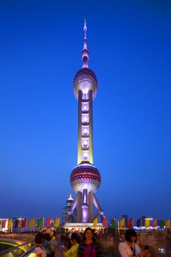 CH11107AW Oriental Pearl Tower in Shanghai, Pudong, China